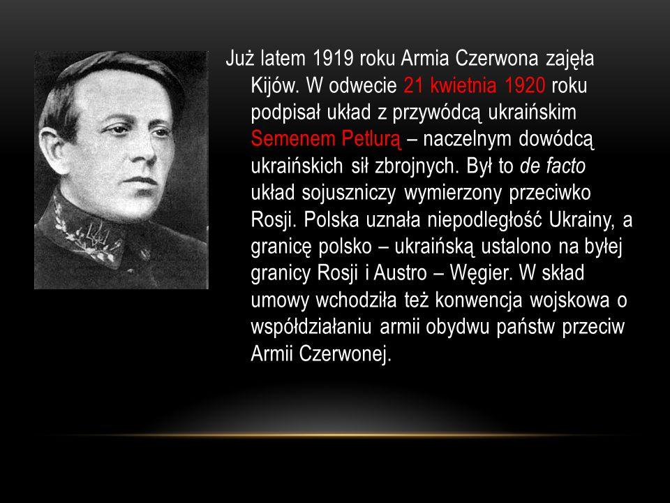Już latem 1919 roku Armia Czerwona zajęła Kijów