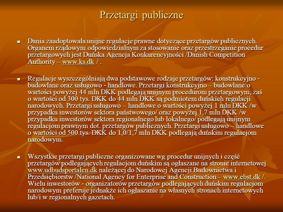 Przetargi publiczne