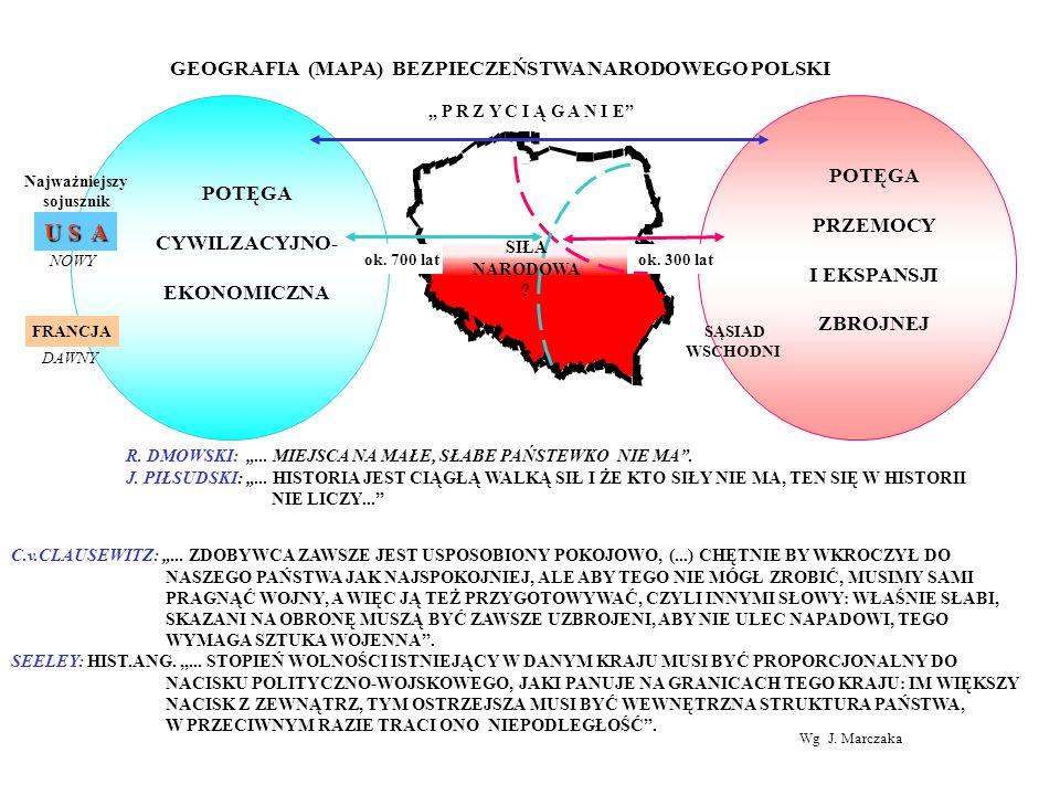 U S A GEOGRAFIA (MAPA) BEZPIECZEŃSTWA NARODOWEGO POLSKI POTĘGA POTĘGA