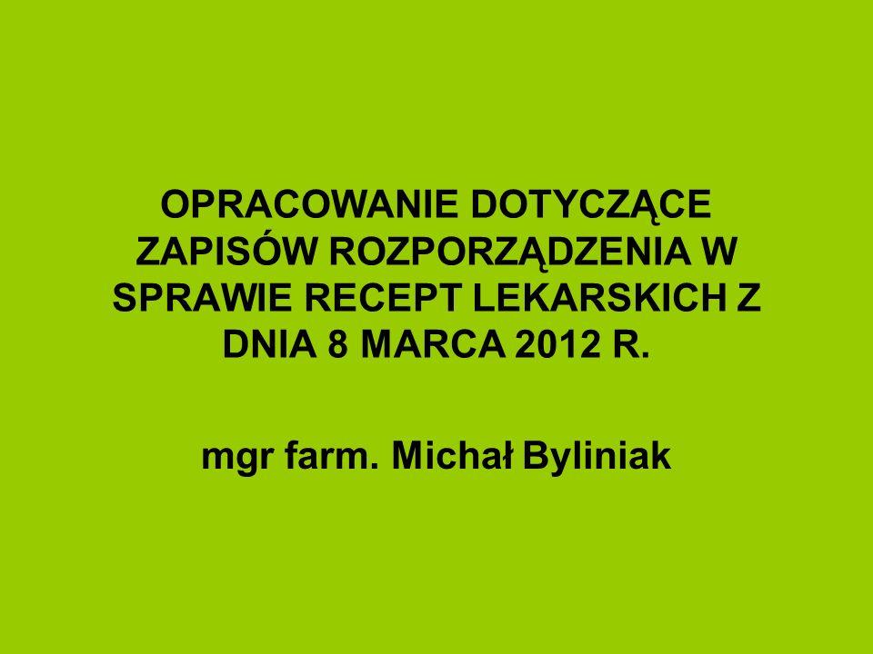 mgr farm. Michał Byliniak