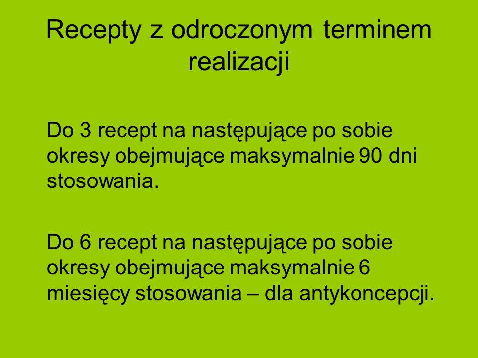 Recepty z odroczonym terminem realizacji