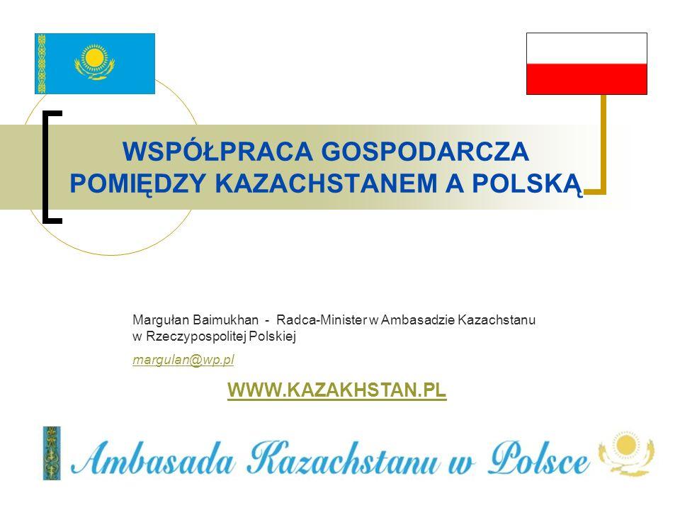 WSPÓŁPRACA GOSPODARCZA POMIĘDZY KAZACHSTANEM A POLSKĄ