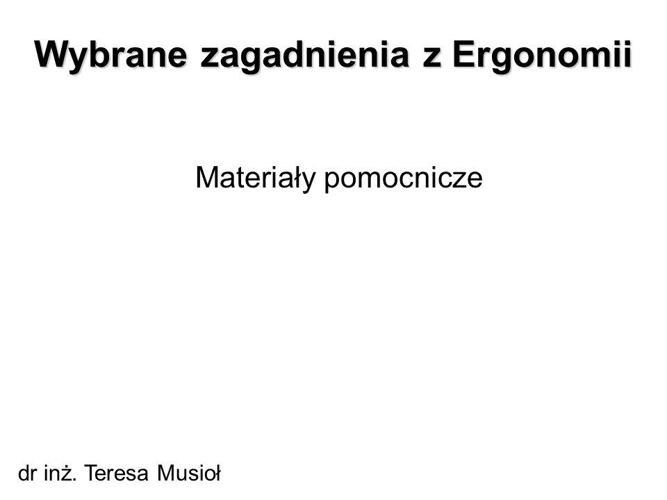 Wybrane zagadnienia z Ergonomii
