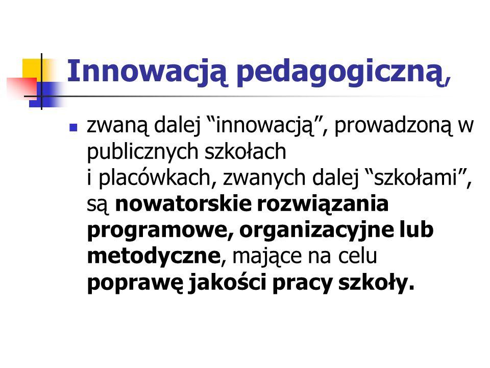 Innowacją pedagogiczną,