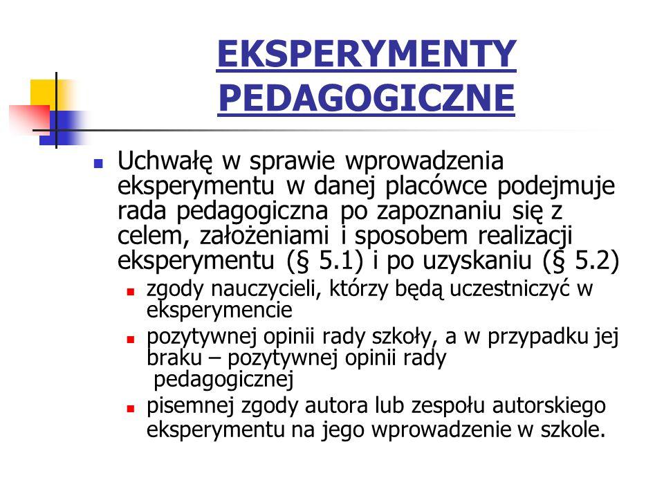EKSPERYMENTY PEDAGOGICZNE