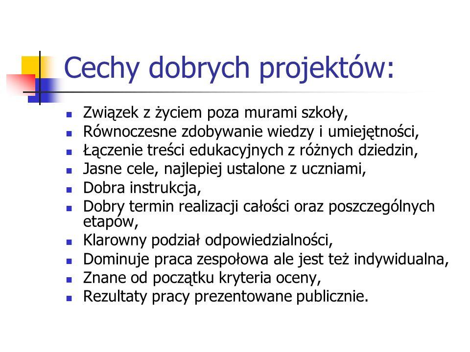 Cechy dobrych projektów: