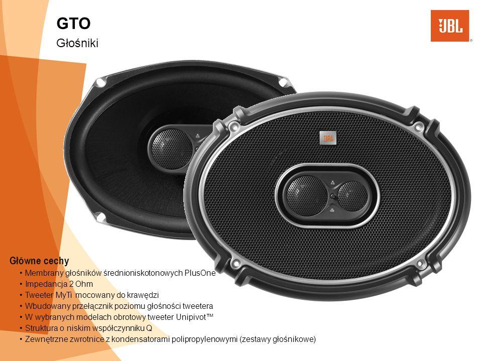 GTO Głośniki Główne cechy