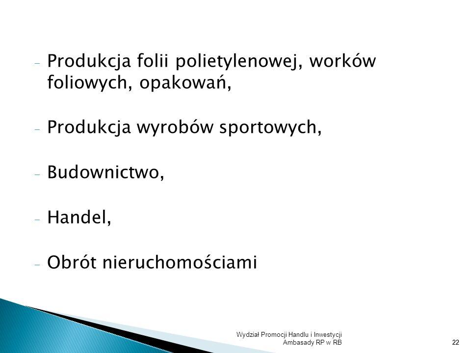 Produkcja folii polietylenowej, worków foliowych, opakowań,
