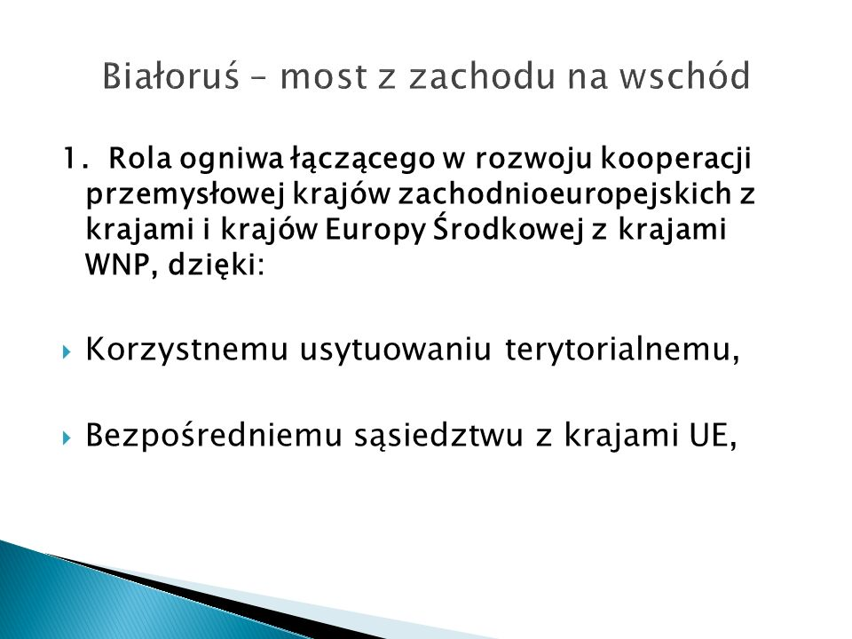 Białoruś – most z zachodu na wschód