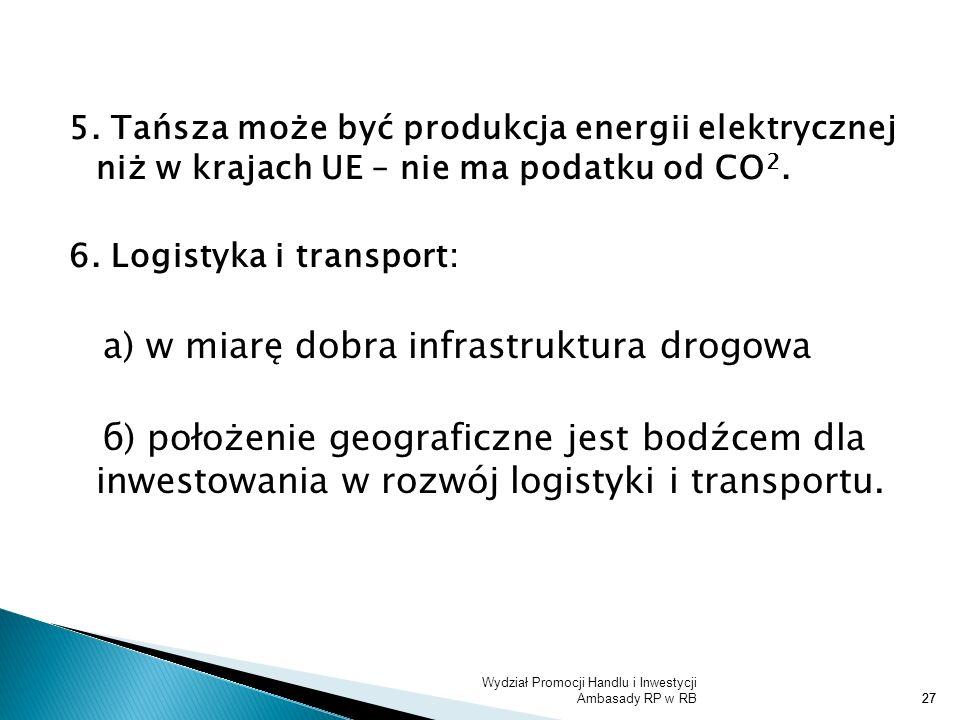 а) w miarę dobra infrastruktura drogowa