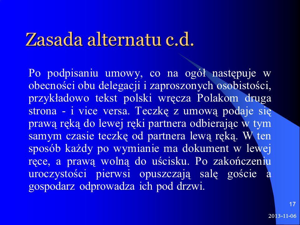 Zasada alternatu c.d.
