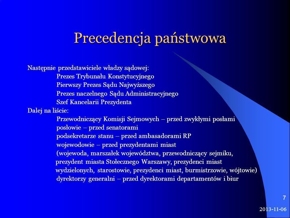 Precedencja państwowa