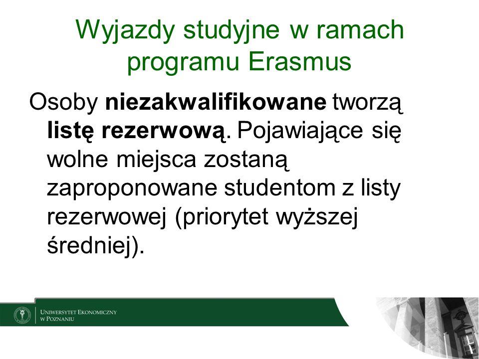 Wyjazdy studyjne w ramach programu Erasmus
