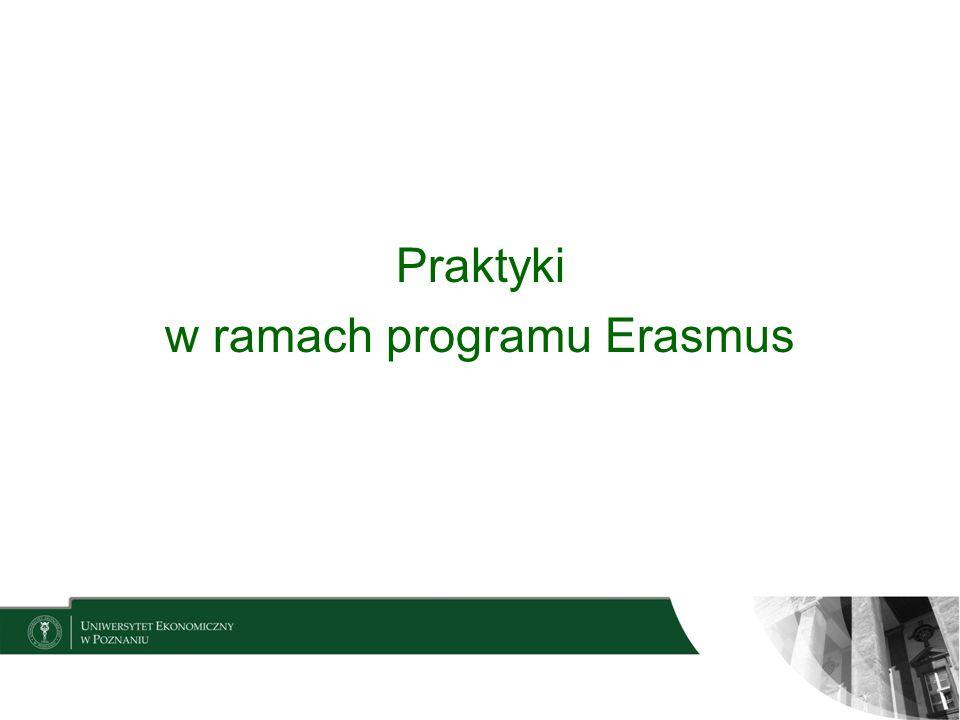w ramach programu Erasmus