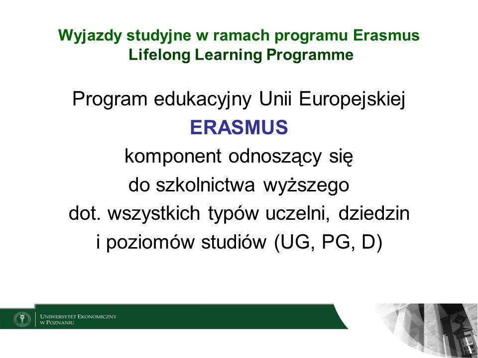 Wyjazdy studyjne w ramach programu Erasmus Lifelong Learning Programme