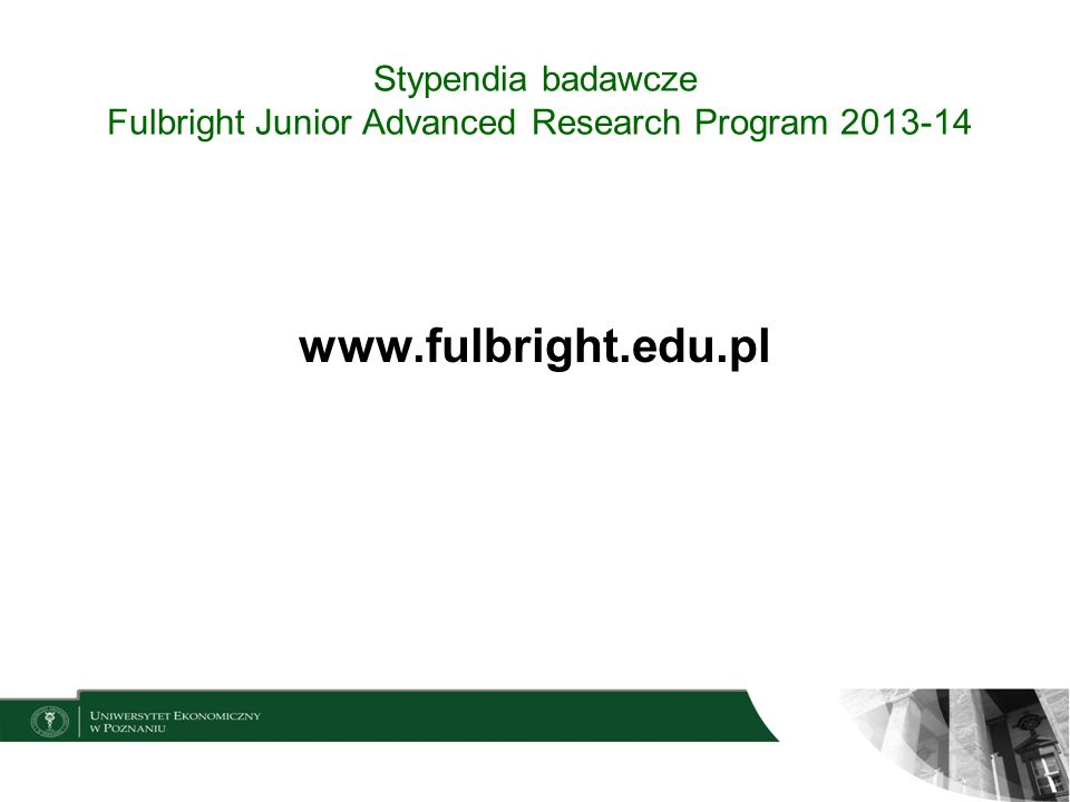 Stypendia badawcze Fulbright Junior Advanced Research Program