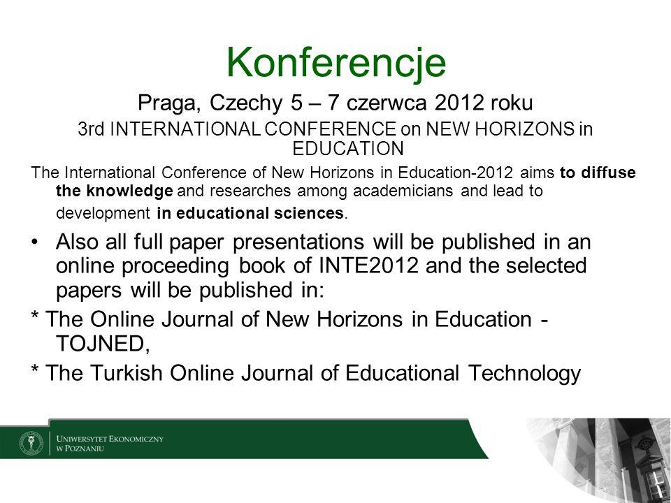 Konferencje Praga, Czechy 5 – 7 czerwca 2012 roku