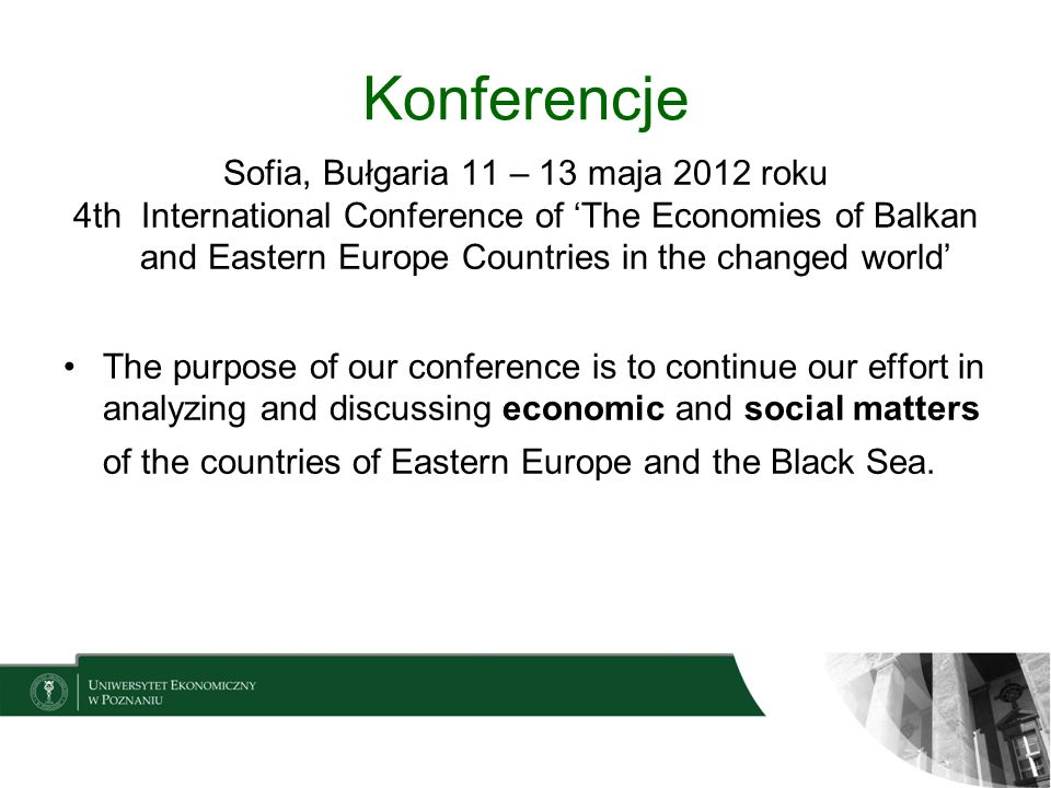 Sofia, Bułgaria 11 – 13 maja 2012 roku