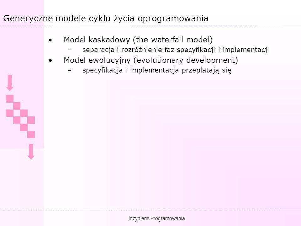 Generyczne modele cyklu życia oprogramowania