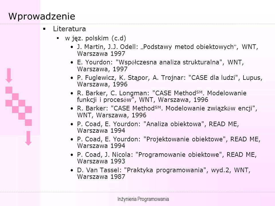 Wprowadzenie Literatura w jęz. polskim (c.d)