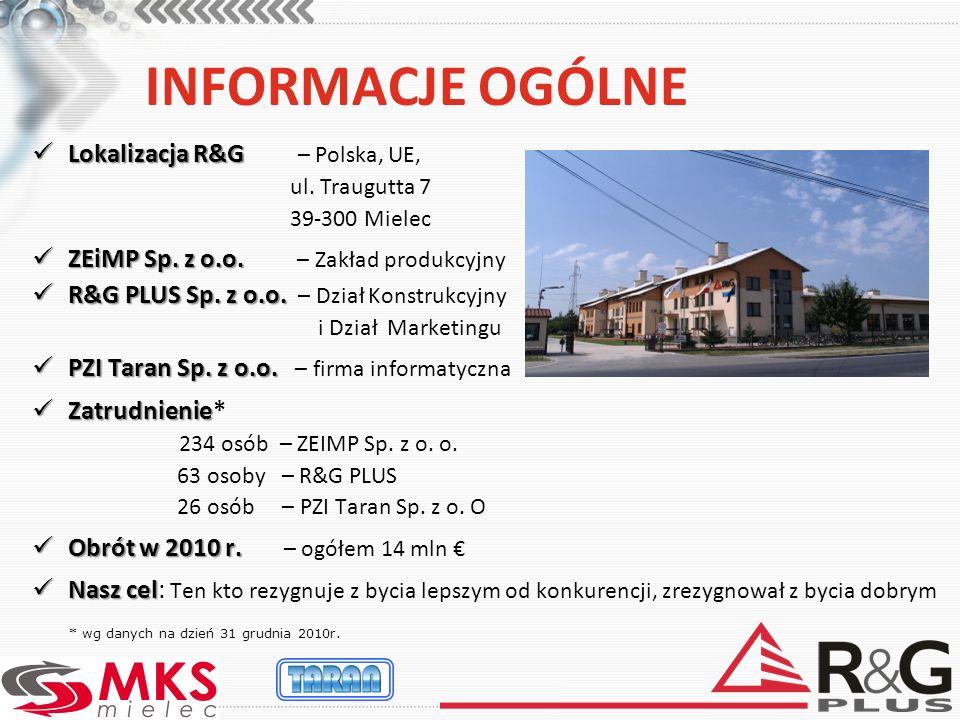 INFORMACJE OGÓLNE Lokalizacja R&G – Polska, UE,