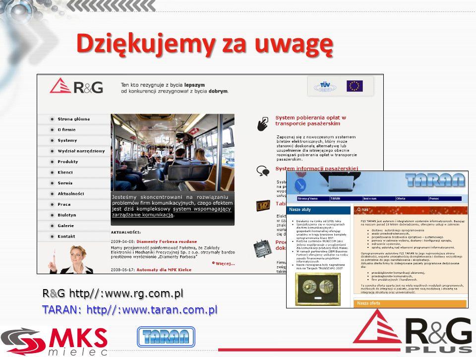 Dziękujemy za uwagę R&G http//:www.rg.com.pl
