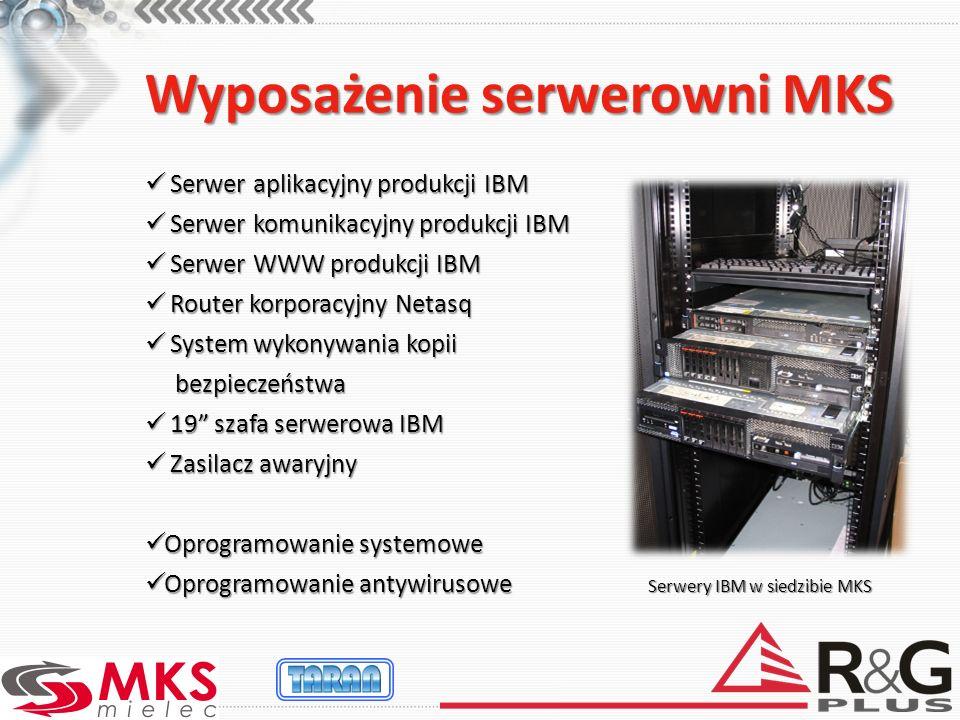 Wyposażenie serwerowni MKS