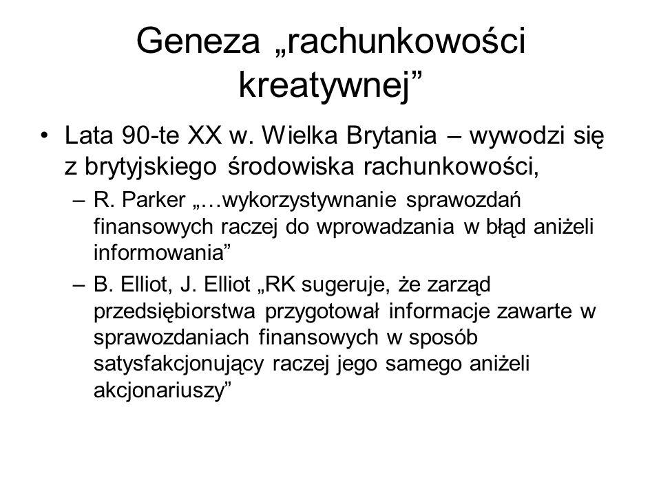 """Geneza """"rachunkowości kreatywnej"""