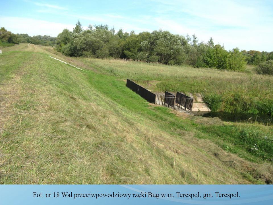 Fot. nr 18 Wał przeciwpowodziowy rzeki Bug w m. Terespol, gm. Terespol.
