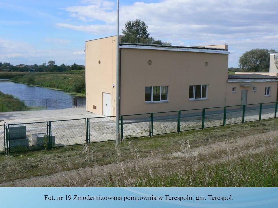 Fot. nr 19 Zmodernizowana pompownia w Terespolu, gm. Terespol.