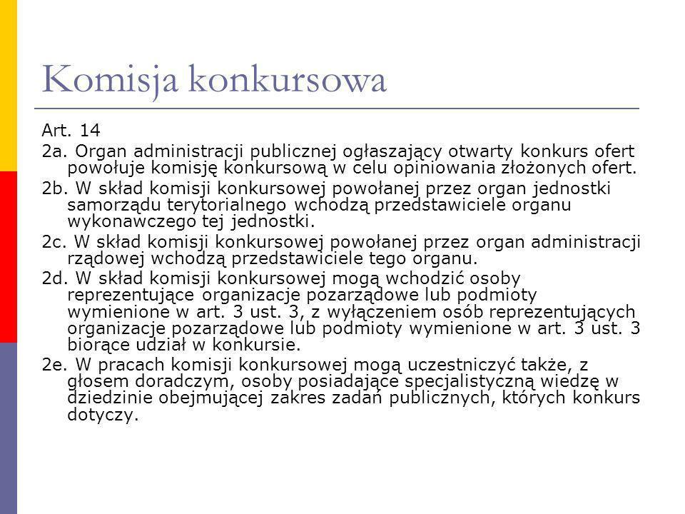 Komisja konkursowa Art. 14