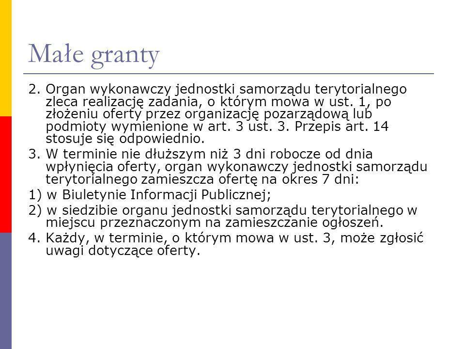 Małe granty