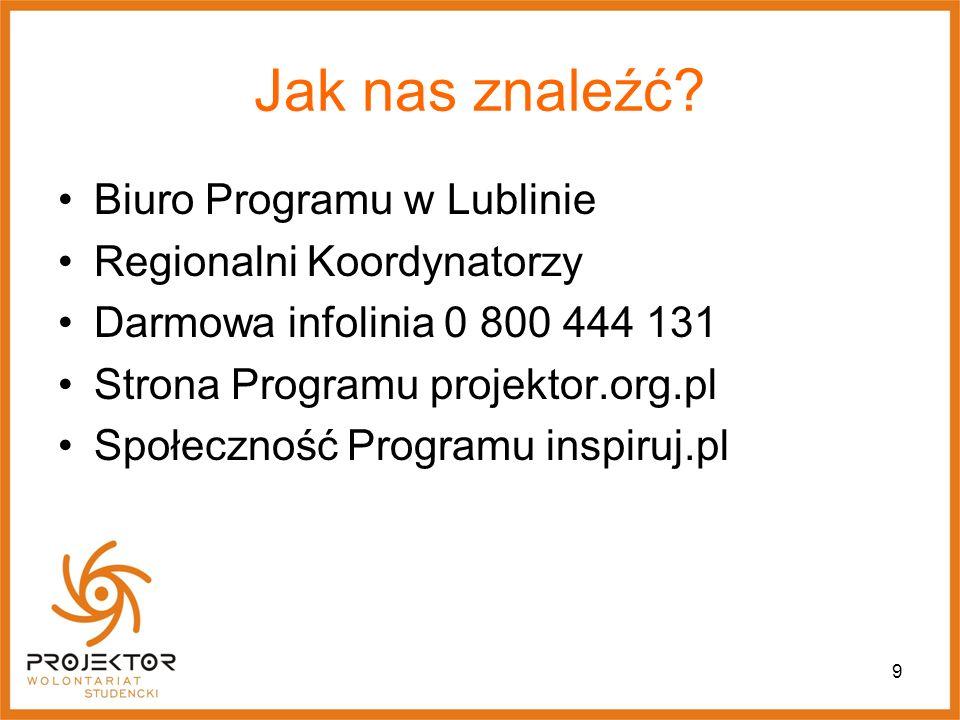 Jak nas znaleźć Biuro Programu w Lublinie Regionalni Koordynatorzy