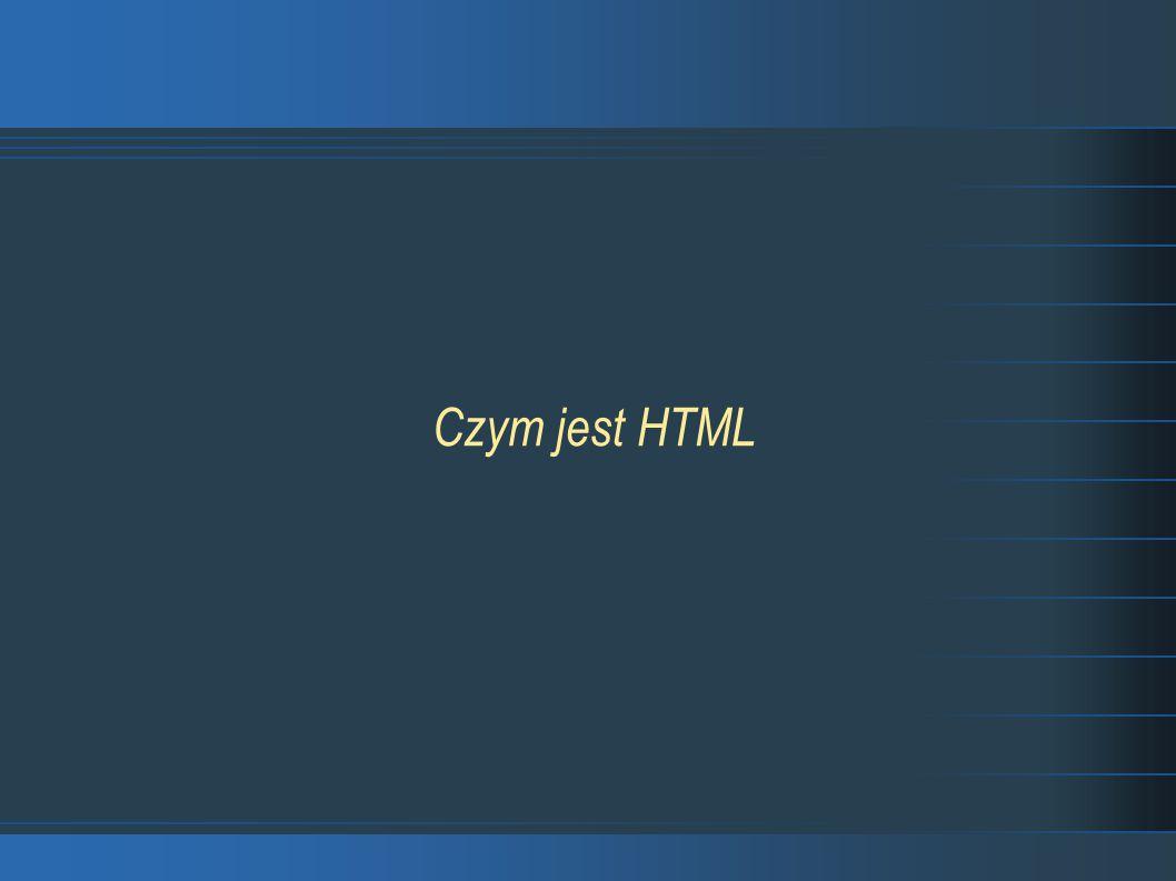 Czym jest HTML