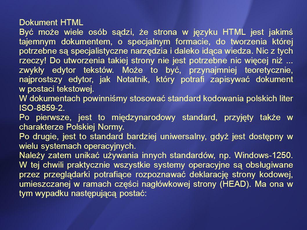 Dokument HTML