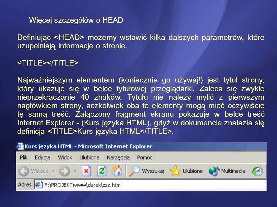 Więcej szczegółów o HEAD