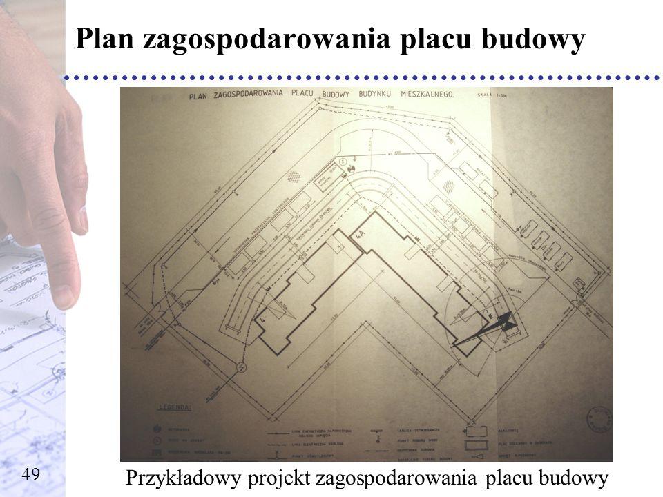 Plan zagospodarowania placu budowy