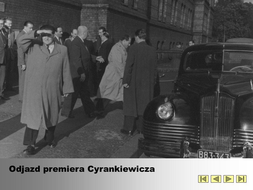 Odjazd premiera Cyrankiewicza