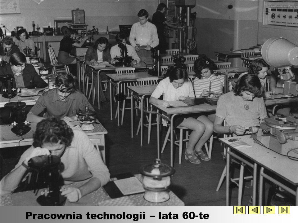 Pracownia technologii – lata 60-te