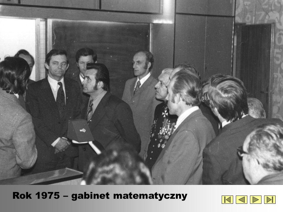 Rok 1975 – gabinet matematyczny