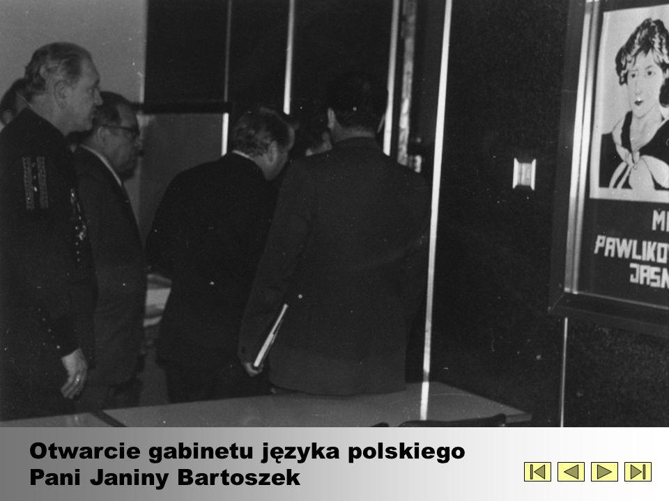 Otwarcie gabinetu języka polskiego Pani Janiny Bartoszek