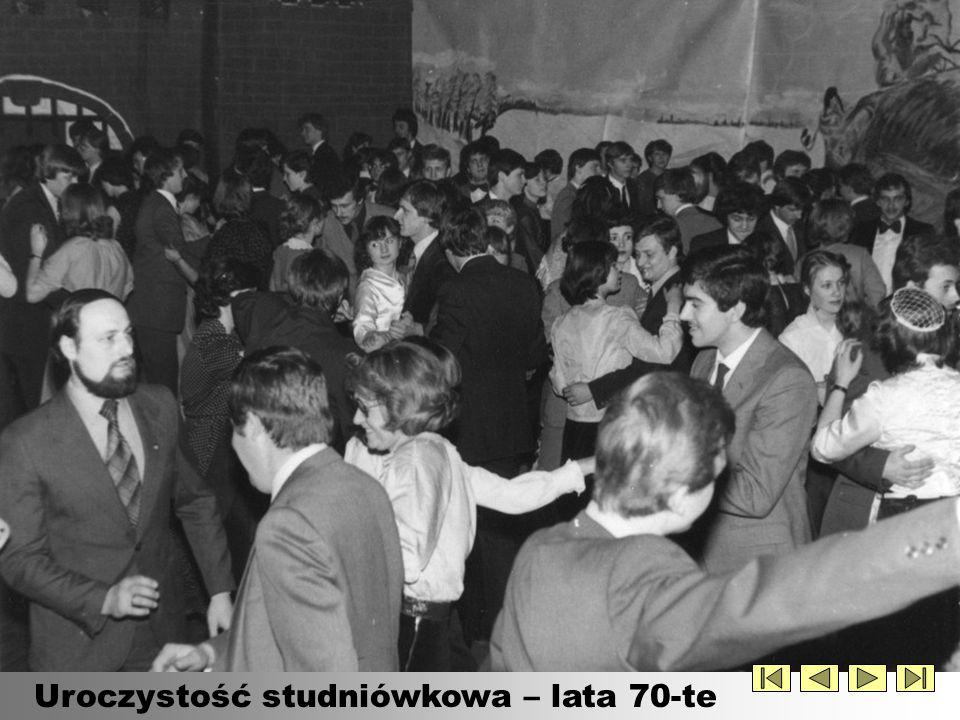 Uroczystość studniówkowa – lata 70-te