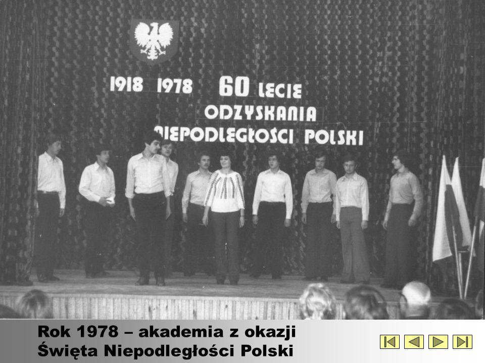Rok 1978 – akademia z okazji Święta Niepodległości Polski