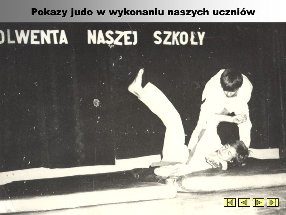 Pokazy judo w wykonaniu naszych uczniów