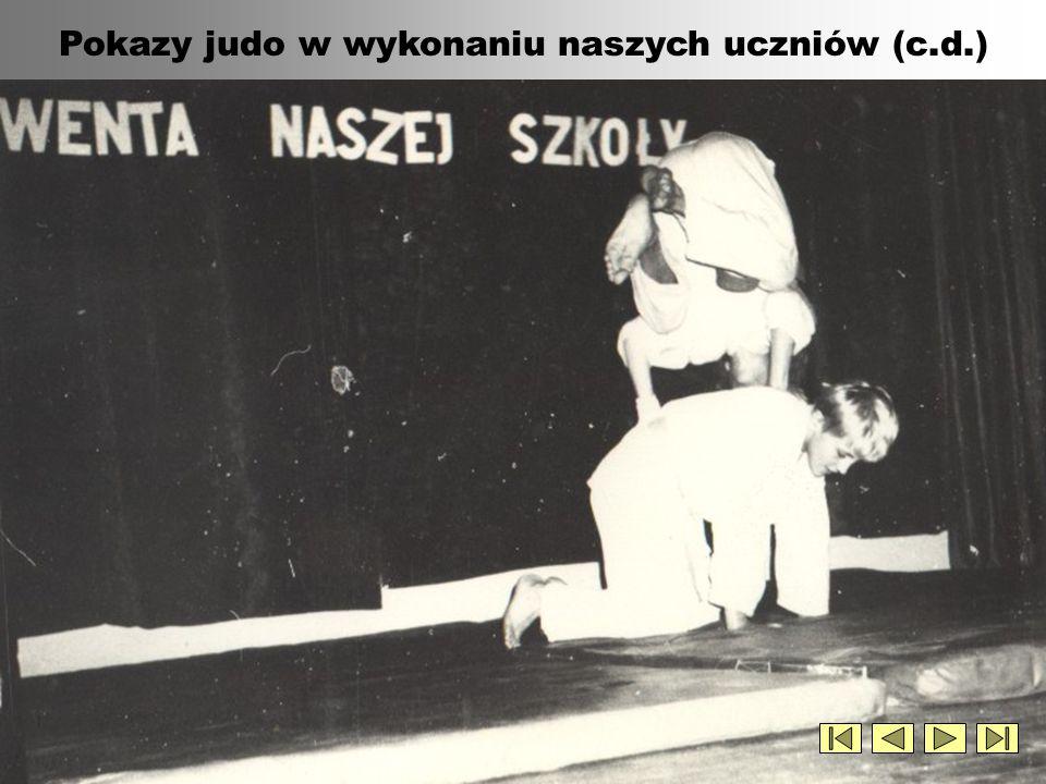 Pokazy judo w wykonaniu naszych uczniów (c.d.)