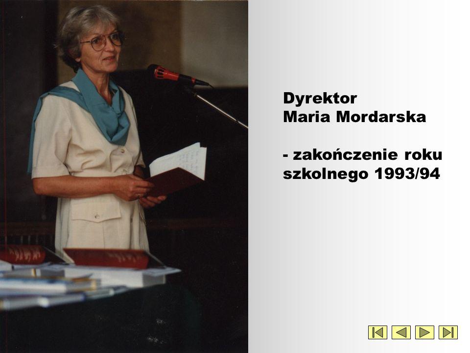 Dyrektor Maria Mordarska - zakończenie roku szkolnego 1993/94