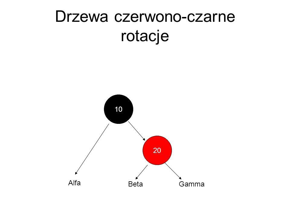Drzewa czerwono-czarne rotacje