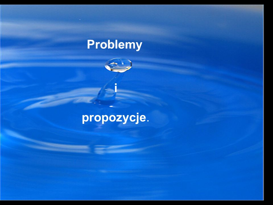 Problemy i propozycje.