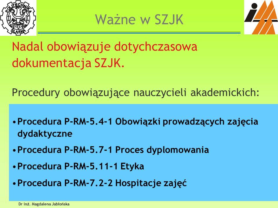 Dr inż. Magdalena Jabłońska
