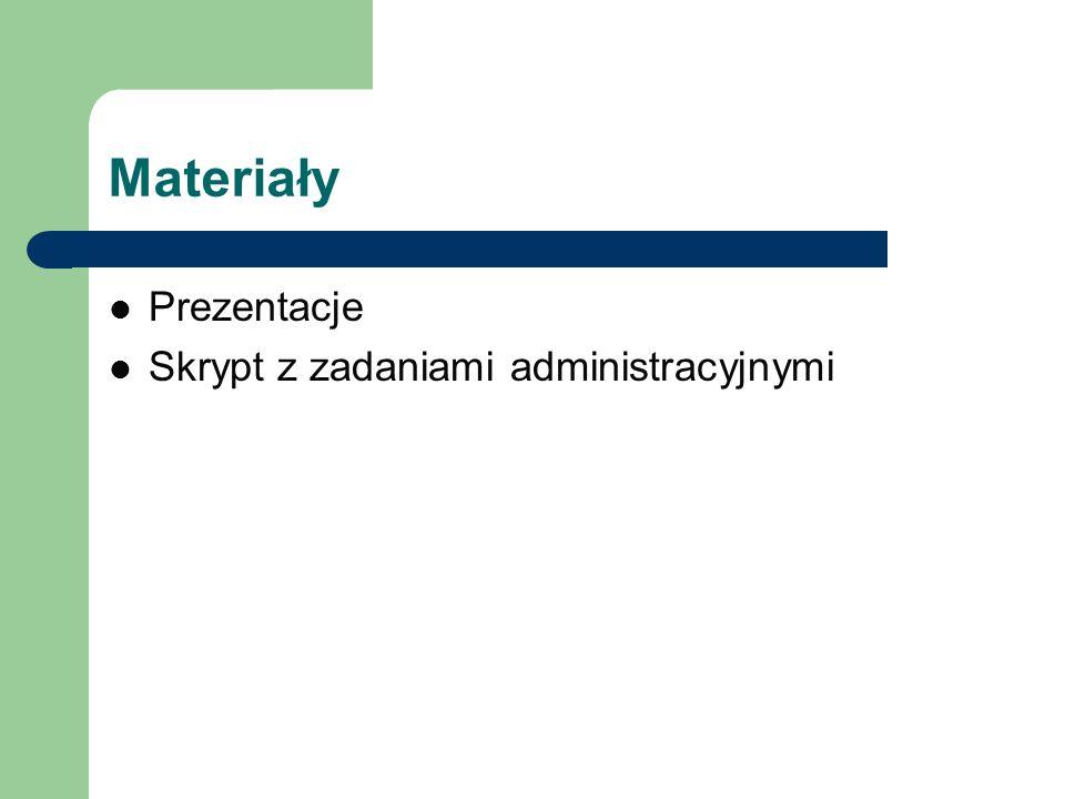 Materiały Prezentacje Skrypt z zadaniami administracyjnymi